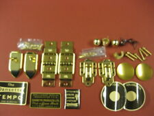 VINTAGE DANSETTE  RECORD PLAYER CABINET SPARES FULL BRASS KIT FOR TEMPO 1ONLY