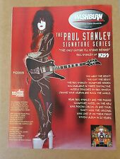 Paul Stanley Washburn Guitar Press Ad Kiss Psycho Circus