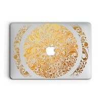 Golden Floral Mandala Cover Case For Apple Macbook Pro Retina Air 11 12 13 15