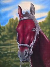~ Horse - BLANKET POLAR WINTER FLEECE THROW BED BEDROOM