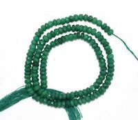 "Natural Corundum Green Emerald Gemstone 3-4 mm Rondelle Faceted Beads 13"" Strand"
