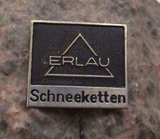 Antique Erlau Schneeketten Metal Chain Link Maker Germany Company Pin Badge