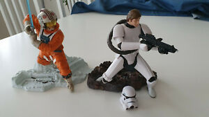 Star Wars Unleashed Luke Skywalker und Han Solo/Stormtrooper Figur Hasbro 1:10