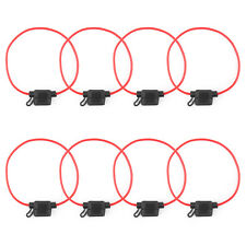 New listing 8Pcs Low-profile Mini Blade Fuse Holder Waterproof 16Awg In-Line Wire For Car Us