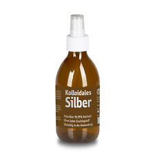 Kolloidales Silber 25ppm, 250ml in Glas-Sprüh-Flasche. Hochreines Silberwasser