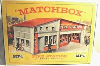Matchbox Lesney Product MF-1 Fire Station Red Roof Empty Box Repro
