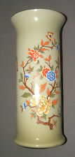 Vintage Antique Large Glass Flower Vase Toscany Made in Italy Handpainted 14""