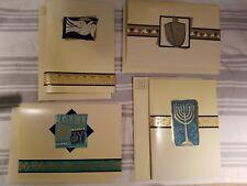 Lot of 4 Sets Of 4 Handmade Happy Hanukkah Greeting Card -  Menorah Dreidel Joy