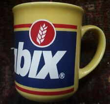 1980s Yellow Transfer Printed Weetabix Cereal Mug Made In Britain