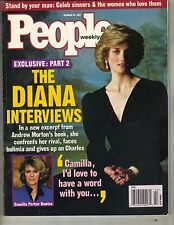 PRINCESS DIANA INTERVIEWS People Magazine 10/20/97 CAMILLA PARKER BOWLES