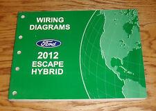 Original 2012 Ford Escape Hybrid Wiring Diagrams Manual 12