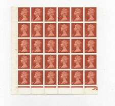 GB - ½d machin block of 30 MNH postage stamps