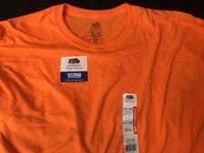 NEW Men's FRUIT of the LOOM Size 4XL/4EG 58-60 Premium Soft LS TEE Shirt Orange
