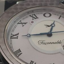 Faconnable date stainless steel 45mm men's works FPRT 000212