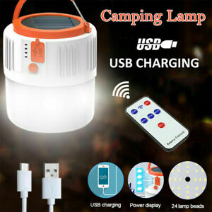 Rechargeable LED Torch Camping Tent Light Lamp Outdoor Solar Power Hiking New