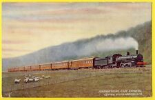 TUCK'S POST CARD Central SOUTH AFRICA RAILWAY JOHANNESBURG Cape Express TRAIN
