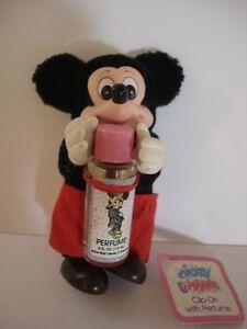 Disney Mickey Mouse Figurine à Clipser Parfum Bouteille Vintage 1987