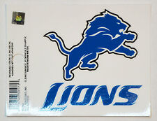 Detroit Lions Small Static-Cling Window Decal Sticker - 3 x 4 - NFL Football