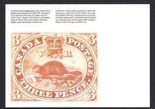 Canada  Postcard   #82-1  1851  3 - PENCE BEAVER     New 1982 Unaddressed