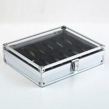 12 Grid Slots Jewelry Watches Display Storage Box Case Aluminium Square NEW UL