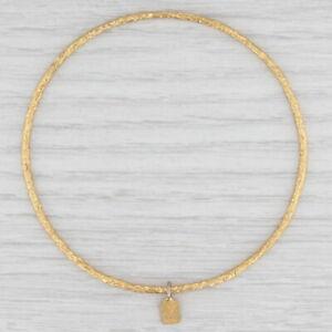 """New Nina Nguyen Pallas Bangle Bracelet Sz 3 Sterling Silver 22k Gold Vermeil 8"""""""