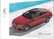 2014 14  Mercedes Benz E  Class  Coupe & Convertible Original  brochure