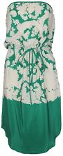 New Y B Jaime Womens Silk Dress in Emerald Cream Size 2 RRP$270.00
