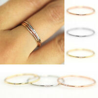 Women Brief Style Fashion Zircon Ring Wedding Engagement Ring Party Jewelry 07AU