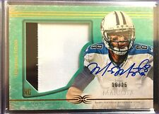 #16/25 Marcus Mariota 2015 Topps Definitive Collection Green Auto Patch RC #DC-1