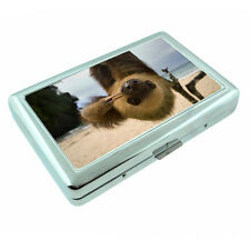 Cute Sloth Images D3 Silver Metal Cigarette Case RFID Protection Wallet