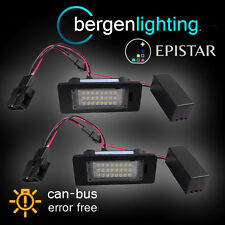 FOR PORSCHE PANAMERA 2010 On 24 LED NUMBER PLATE LIGHT LAMP PAIR