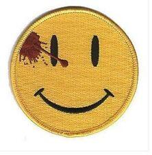 Watchmen Smiley Bügel Patch Comedian's Abzeichen Knöpfe Bestickt Applikation