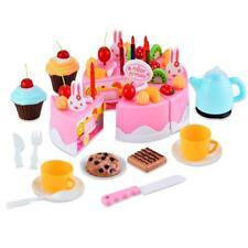 54 Stück Kinder Spielzeug Puppengeschirr Küche Spielküche Geburtstagstorte Neu