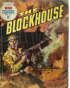 THE BLOCKHOUSE,WAR PICTURE LIBRARY,NO.341,WAR COMIC,1966
