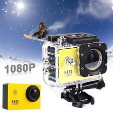Video Full HD 1080P 12MP Cam 30M caméra étanche Action Sports DV DVR Jaune DC!