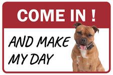 Pitbull Come In And Make My Day Business Store Retail Counter Sign