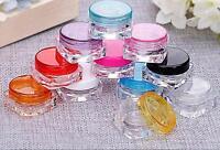 10 Pcs Cosmetic Empty Jar Pot Eyeshadow Makeup Face Cream Lip Balm Container S!