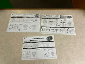 Mighty Morphin Power Rangers Megazord Instructions OPERATION OVERDRIVE LOT J