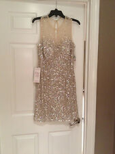 Women's Attractive Short Empire Tulle 2013 Nude Sequin Cocktail/party/prom Dress