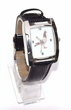 SUPERB RACING HOMING PIGEON WATCH QUARTS MOVEMENT BATTERY OPERATED BLACK STRAP