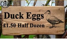Personalised Free Range DUCK EGGS FOR SALE SIGN Plaque OUTDOOR egg box fresh