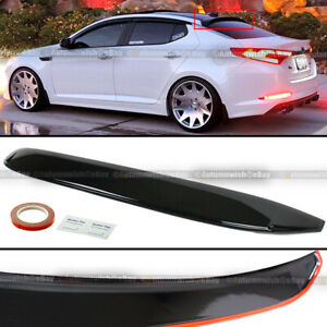 For 11-15 KIA Optima K5 Black Tint Rear Window Roof Sun Rain Shade Visor Spoiler