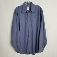 Brooks Brothers Mens Button Front Long Sleeve Blue Plaid Shirt Size Large - A426