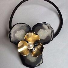 De moda Rígido Gargantilla Geométrico Negro, Perla/Oro Y Cristal Collar Bloggers