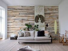 Murale Parete PHOTO CARTA DA PARATI legno sbiancato in legno Arte Muro Home Decor 368x254cm