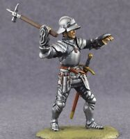 Toy Tin Soldier Painted Knight 1/32 English Infantryman Wars the Roses 54mm