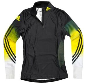 Adidas Race Top Ladies Pro Cross Biathlon Top Shirt Dsv Turtleneck Black