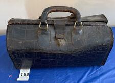 Vintage Upjohn Homa Medical Bag Genuine Cowhide Leather Faux Alligator Skin 0915