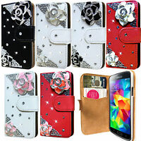 New 3D Bling Diamond Leather Wallet Flip Case Cover For Samsung Galaxy S5 i9600