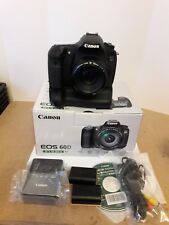 Canon EOS 60D 18.0MP Digital SLR Camera with battery grip and EF 50mm F1/8 lens